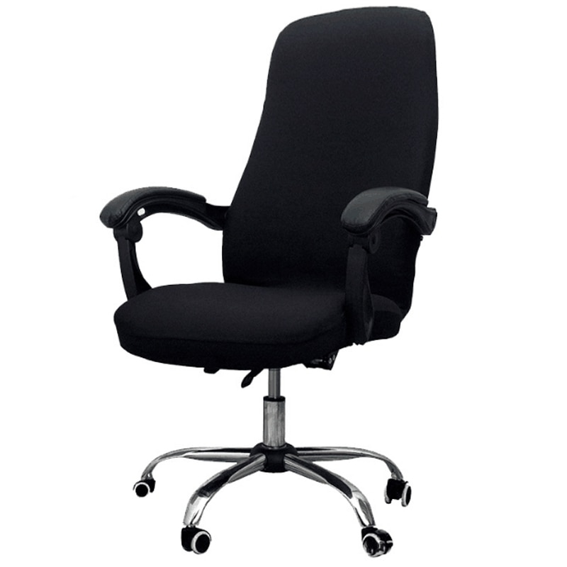 Фото - Office Chair Cover Elastic Siamese Office Chair Cover Swivel Chair Computer Armchair Protective Cover(Black) straight stretchable chair cover 4 pcs black