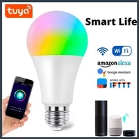 Vente chaude 9W E27 Ampoule LED Ampoule Intelligente Wifi Fonctionne avec Alexa Google Assistant Tuya Maison RVB   CW Dimmable Ampoule AC100-265V
