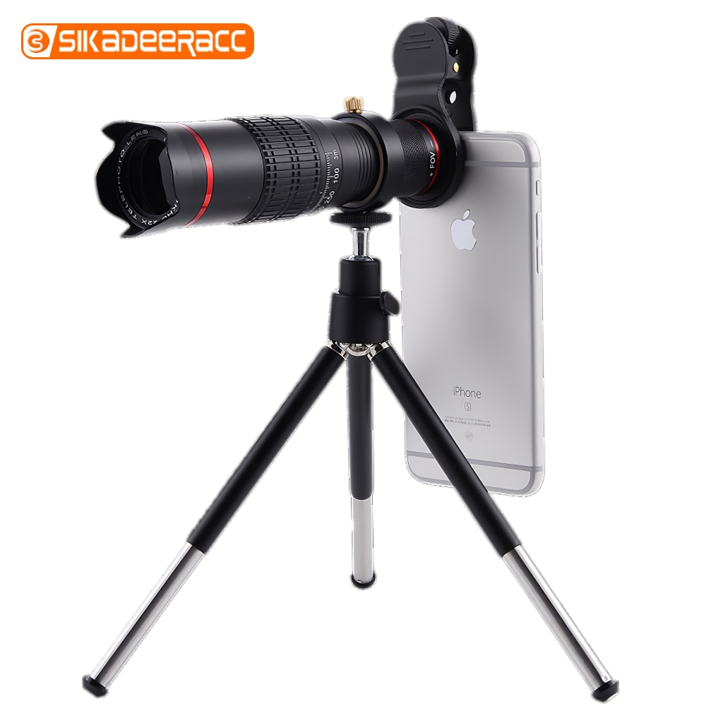 Mobile Phone Camera Lens 22X Telescope Zoom Telephote Lens Universal Tripod Mount Clip For Samsung Galaxy S9 S10 Plus S7 Edge