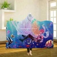 anime fairy tail 3d print fleece hooded blanket for beds cartoon throw custom decoration luxury gift kids adult bedspread home