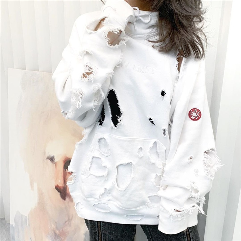 Hole CAVEMPT  Hoodies Men Woman 11 Cotton Casual High Quality Fashion Autumn Winter C.E Cav Empt Sweatshirts