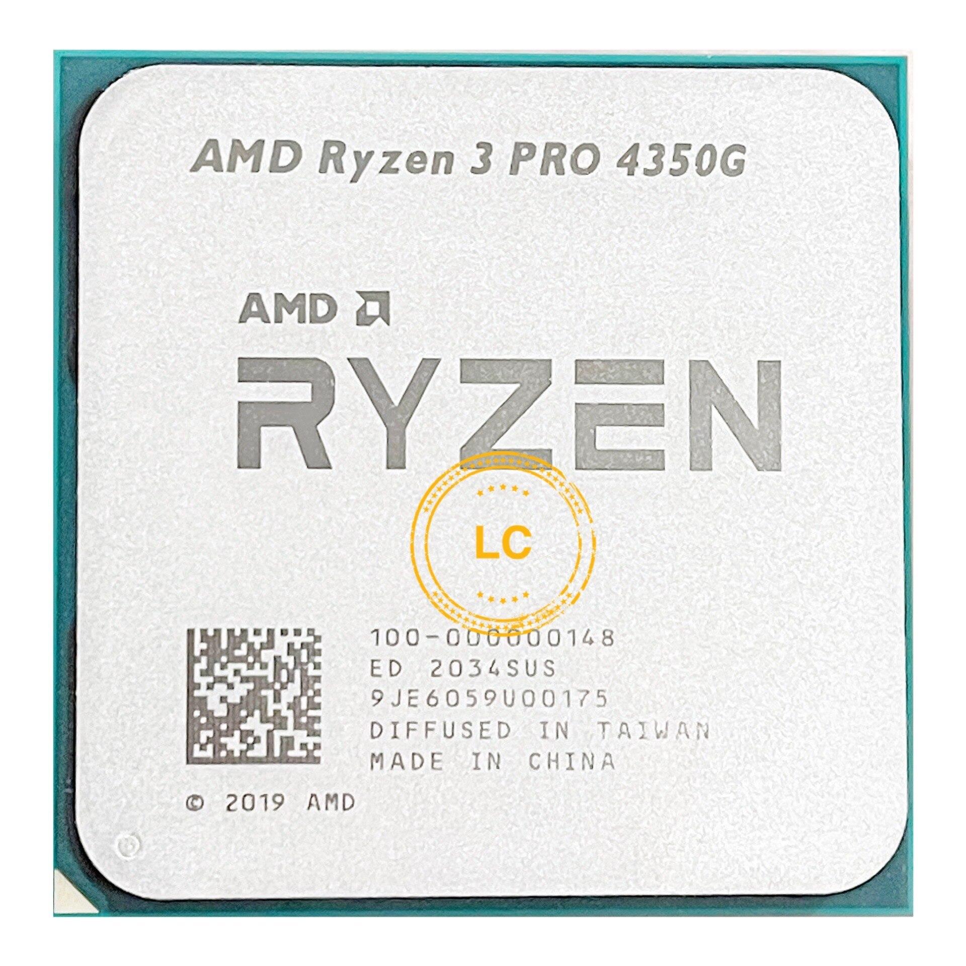 [해외] AMD Ryzen 3 PRO 4350G R3 PRO 4350G 3.8GHz 4 코어 8 스레드 65W CPU 프로세서 L3 = 4M 100-000000148 소켓 AM4, 라이젠