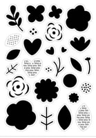 cutting dies clear stamp of fresh flowers loves leaf badge greeting card decor scrapbooking paper embossing stencil diy seal