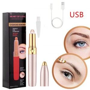 Electric Eyebrow Trimmer Mini Shaver Razors Portable Epilator Pen Epil Hair Remover Painless Razor Facial Depilador Epilator too