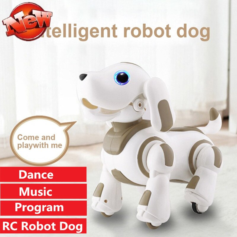 Intelligent Remote Control Robot Dog Multifunction Dance Singing Music Programmable Rc Toy Smart Robot Kid Friend parent-kid toy