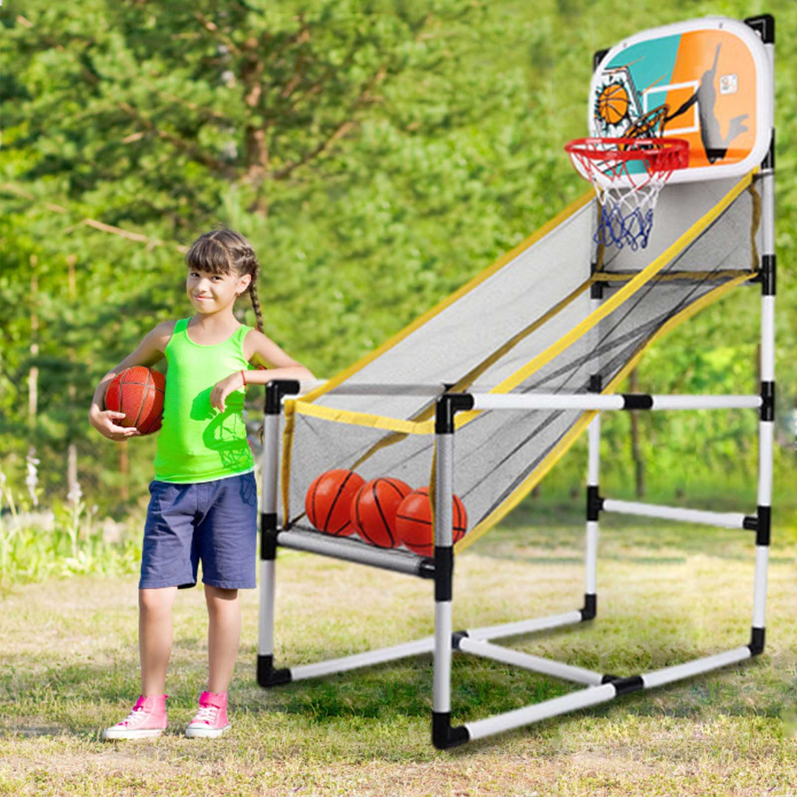 Indoor Basketball Shooting Sports Playset Basketball Hoop Arcade Game Brain-Training Toy For Children Kids Educational Toy Gift adjustable kids basketball stand hoop indoor outdoor shooting toy with metal pole