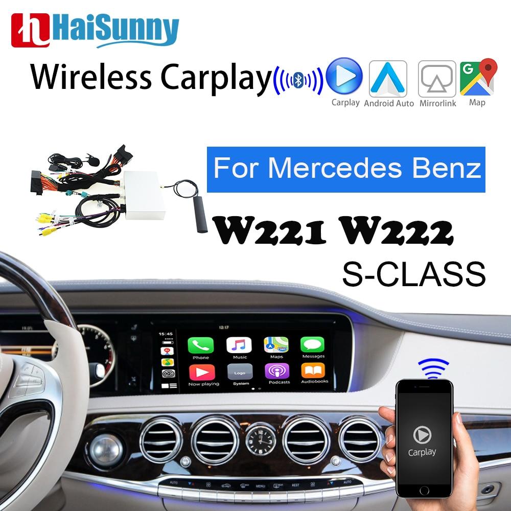 Promo Wireless Carplay For Mercedes W221 W222 S Class Car Play Support Andorid Auto Mirror Module Retrofit Reverse Camera Navigation