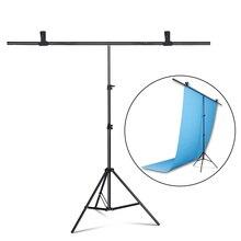 Système de support de support de toile de fond en forme de T de photographie pour les décors de PVC de studio de photo plusieurs tailles + sac de transport