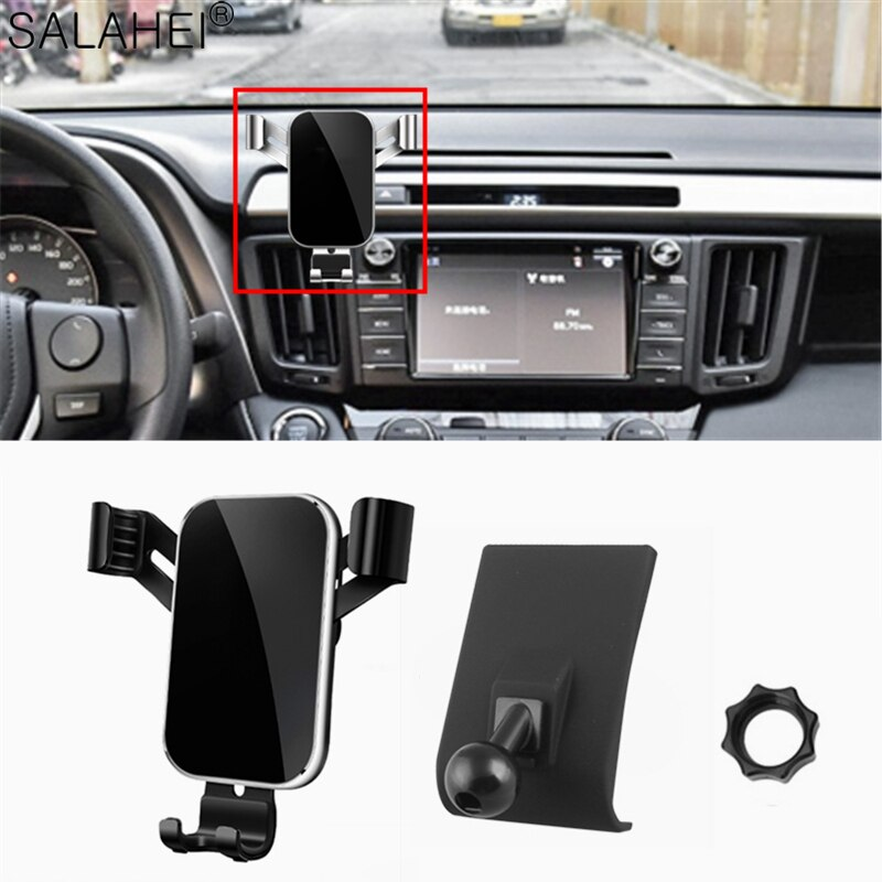 Phone Holder For Toyota RAV4 2015 2016 Dashboard Air Vent Car Cellphone Mount Stand Clip 2017 2018 2019
