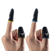1 Pair Breathable Mobile Game Controller Finger Sleeve Type Trigger for PUBG