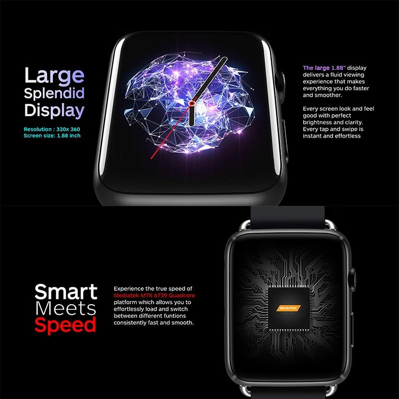 DM20 4G Smart Watch MTK6739 Quad Core Smartwatch 3GB Ram 32GB Rom Android 7.1 OS 1.88