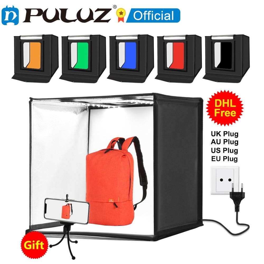 PULUZ-صندوق إضاءة استوديو الصور 60 × 60 ، خلفية LED ، للتصوير الفوتوغرافي ، التصوير الفوتوغرافي ، إضاءة الاستوديو ، 6 ألوان