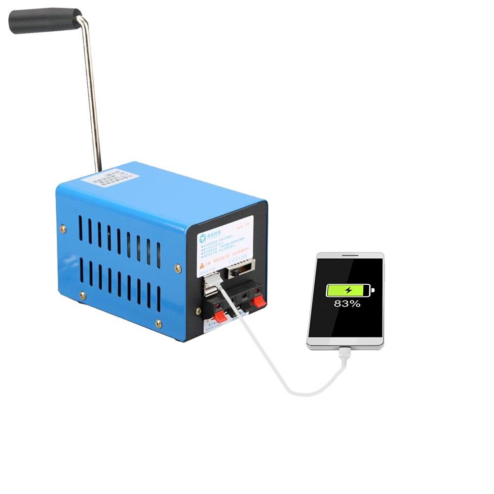 مولد طاقة عالية محمول مولد شحن يدوي 2000 دورة في الدقيقة USB شحن مولد ديناموتور للطوارئ للخارجية