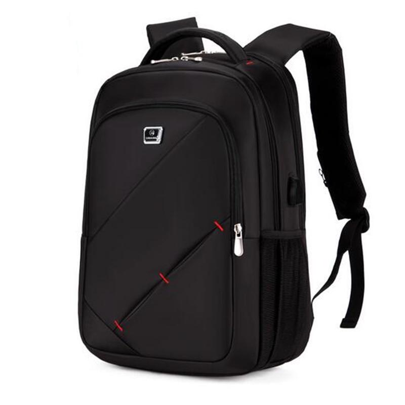 حقيبة ظهر مع شاحن USB خارجي للرجال والنساء ، حقيبة ظهر للكمبيوتر المحمول مقاس 15.6 بوصة ، مقاومة للماء ، للمدرسة ، 2020