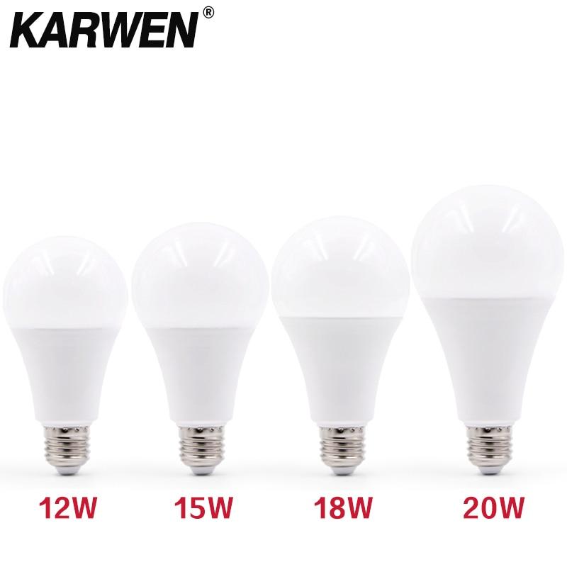3W 6W 9W 12W 15W 18W 20W Bombillas LED para lámpara E27...