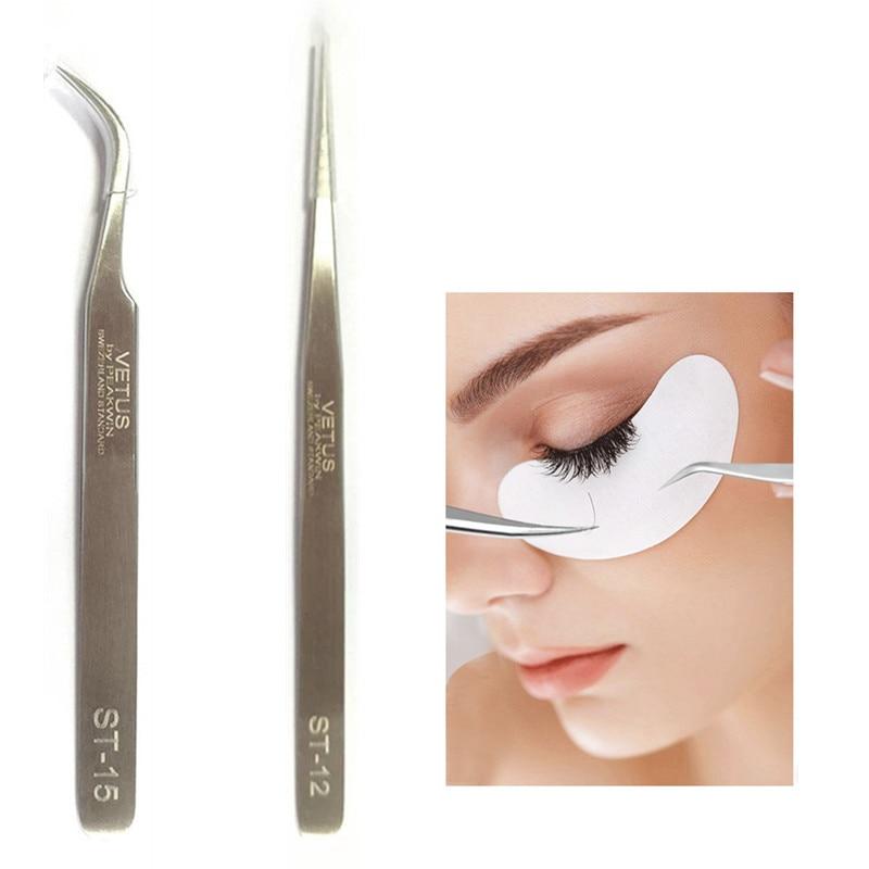 VETUS 100% Genuine Professional Eyelashes Extension Tools ST Series Ultra Precision Stainless Steel Tweezers Makeup Tool