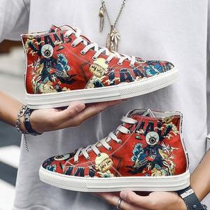 Новый дизайн, высокие кроссовки с принтом граффити, мужские кроссовки суперзвезды в стиле хип-хоп, обувь для скейтборда, модная Высококачес...