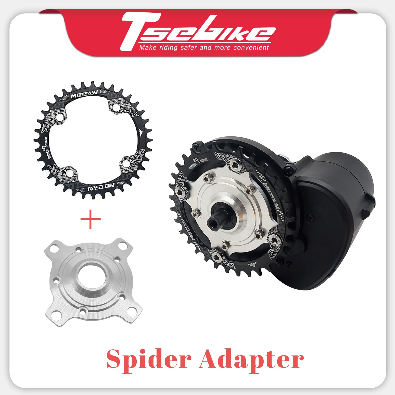 Adaptador da aranha do anel da roda da corrente da e-bicicleta 104 bcd 32t 34t 36t 38t para tsdz2 tongsheng mid drive motor bicicleta elétrica