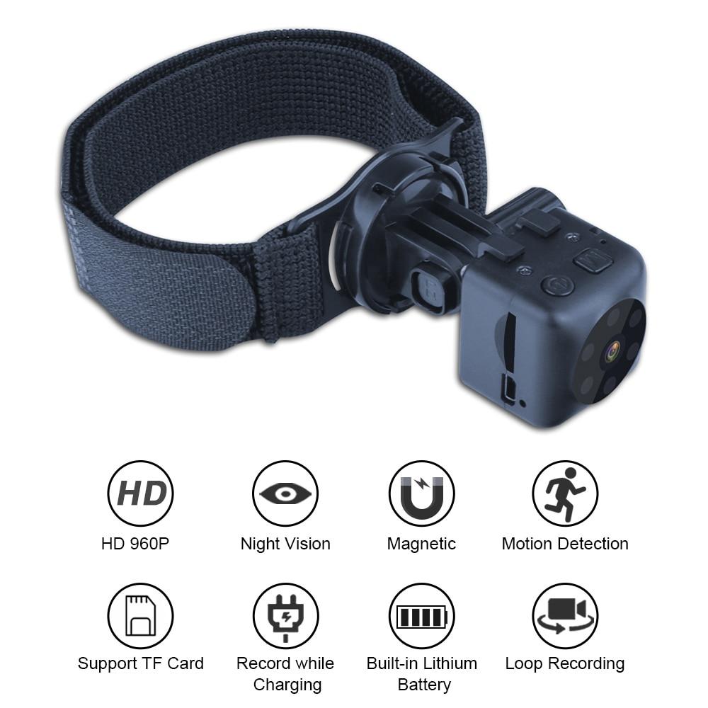 Nano cámara de vídeo con visión nocturna, videocámara de acción magnética oculta,...
