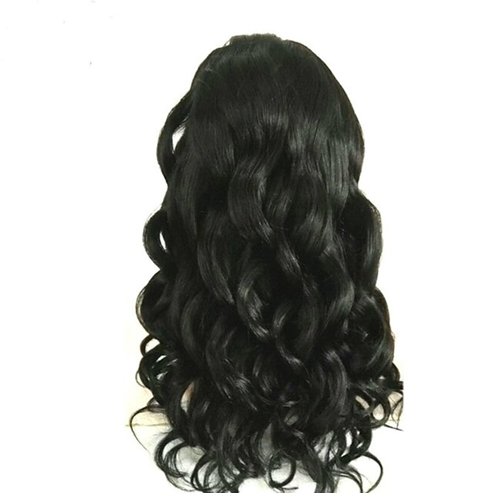 Natural Black Remy Human Hair Glueless Lace Front Wig Body Wave Wig 150% Density wig with Baby Hair Natural Hairline wigs enlarge