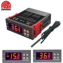 AC 110V 220V DC 12V 24V STC 1000 светодиодный цифровой регулятор температуры термостат инкубатор водонагреватель реле нагрева охлаждения