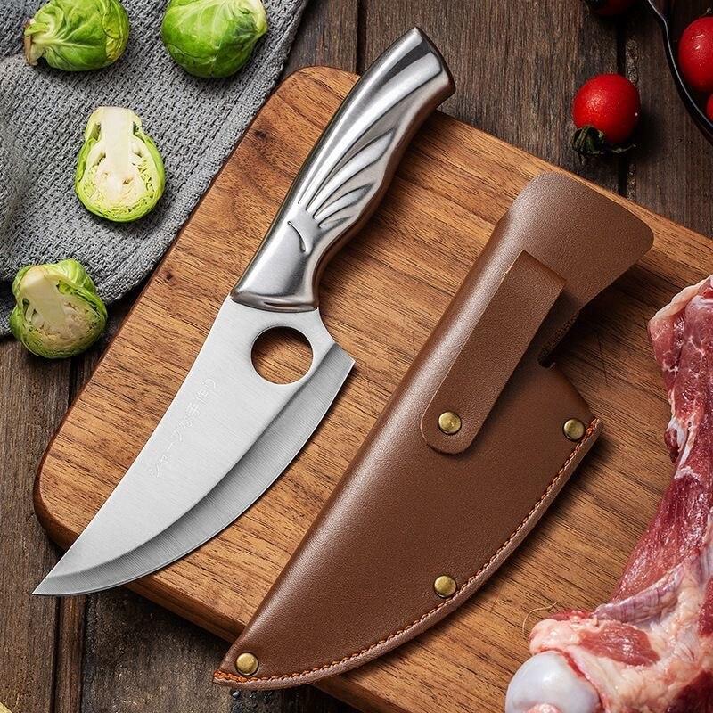 Cuchillo de cocina afilado, herramienta de deshuesado, para Chef, con cubierta de envoltura, Tasak Kuchenny, Japón