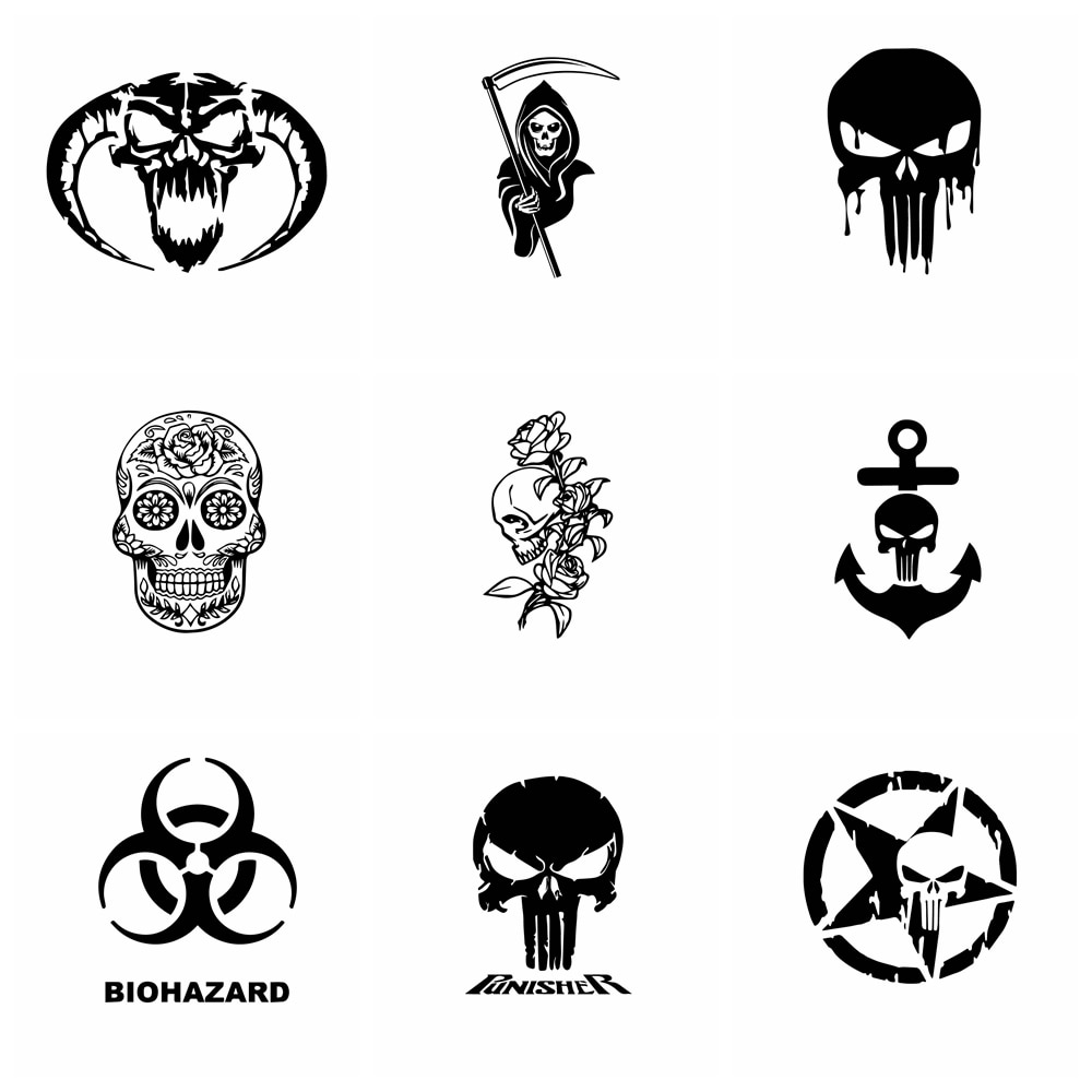 aliexpress.com - 10 Styles Hot Sale Skull Car Sticker Funny Wrap Vinyl Car-Styling Auto Stickers And Decals Cars Decoration Accessories