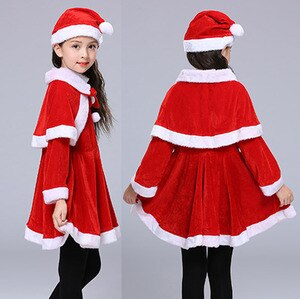 Autumn 2019 New Arrivals Winter Clothes Toddlers Teen Girls Christmas Clothes Santa Claus Costumes for Kids