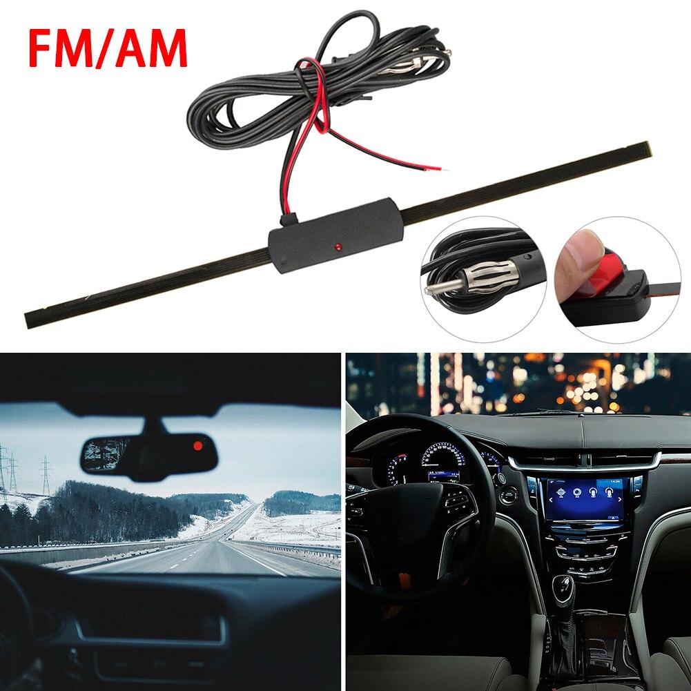 Фото - Универсальная автомобильная антенна 12 В для лобового стекла, Электронная Скрытая антенна AM FM, усилитель сигнала, усилитель сигнала, комплек... автомобильный fm am радио стерео антенна усилитель сигнала усилитель универсальный автомобиль