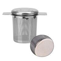 Заварник для чая с двойными ручками и крышкой, сетчатый фильтр из нержавеющей стали, чашка для чая с мелкими листьями, ситечко для чая