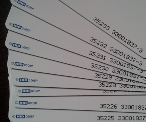 5 unids/set TARJETA DE H-I-D 1386 tarjeta inteligente RFID ISOCARD 125KHz 26Bit para formato de control de acceso H10301