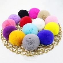 10 pièces 3cm bricolage Pompon vison fourrure boules pompons pour anneau porte-clés chaussures chapeaux moelleux Pom artisanat accessoires matériel livraison rapide