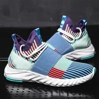 2021 mens breathable running shoes casual outdoor mens sports shoes light socks mens jogging sneakers zapatillas de deporte