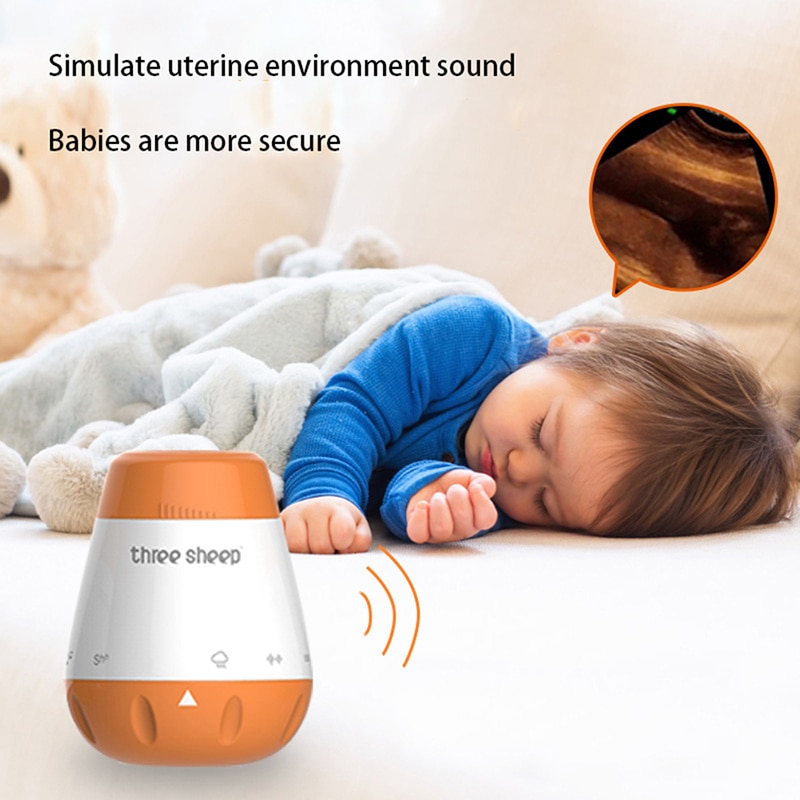 Smart Music White Noise Voice Sensor Portable Rechargeable Baby Baby Physiotherapy Sound Machine Sleep Pacifier Baby Sleep Aid