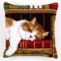latch hook kits pillow animal cat diy handmade printed canvas cushion latch hook kits diy unfinished accessories