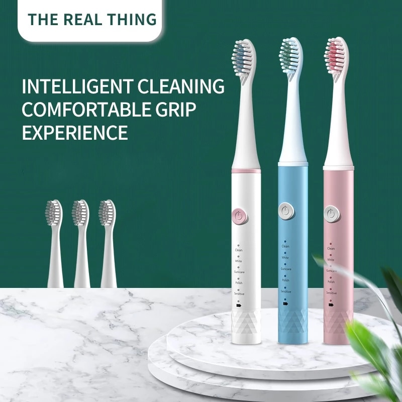 Sonic Electric Toothbrush Adult Timer Brush 5 Mode USB Charger Rechargeable Tooth Brushes Replacement Heads Set sonic electric toothbrush cd5166 adult timer teeth whitening brush 15mode usb rechargeable tooth brushes replacement heads gift