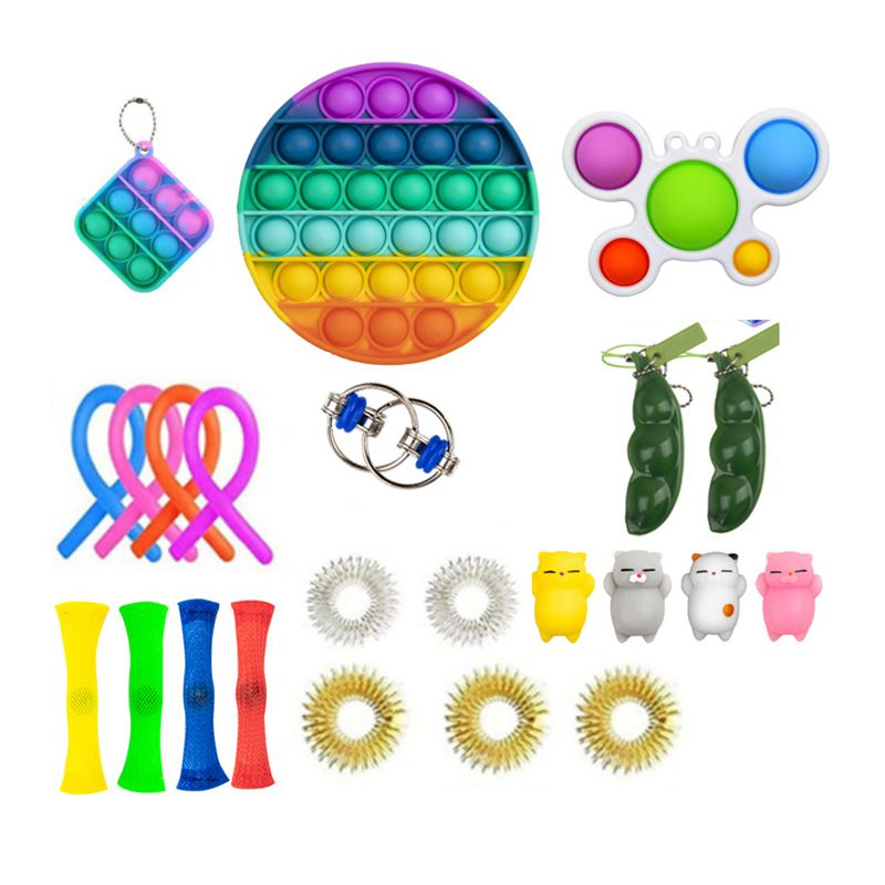 Anti Stress Pop it Box Strings Marble Fidget Toys Set Relief Gift Adults Children Poppit Antis-tress Popit Relief Figet Toy Pack enlarge