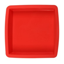Moule Silicone de qualité alimentaire   Moule forme carrée, moule à gâteau antiadhésif en Mousse, moules de cuisson à cookies, outils de décoration de bricolage, 24.5x24.5x3.5cm # LR1