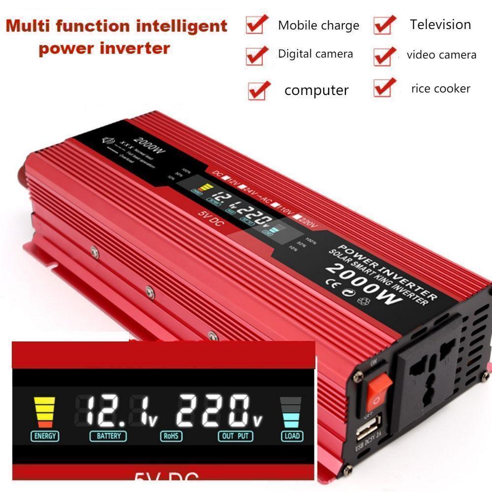 2000w3000w4000w إلى 220v12v24v48v60v 2000 واط 1200 واط 500 واط wsola ذكي عالية الطاقة العاكس