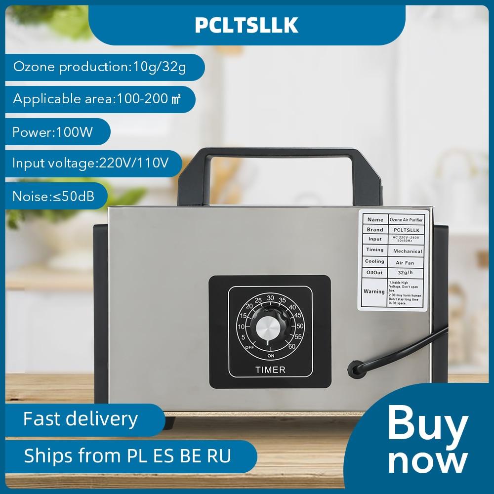 PCLTSLLK 32G Ozone Generator 220V Plug 10g Ozonizer Air Purifier Switch Timing Portable Ozonator Generator O3 Cleaner for Home
