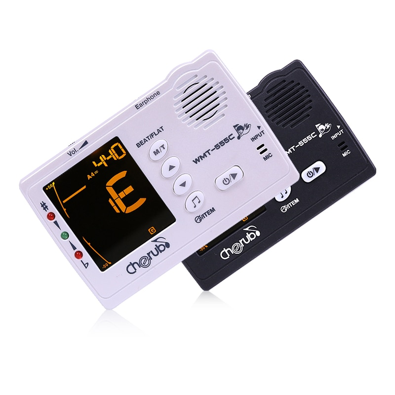 Cherub Metronome WMT-555C For Stringed Instruments Tuner Battery Models Guitar Tuner 3 In 1 Intonation Trainer