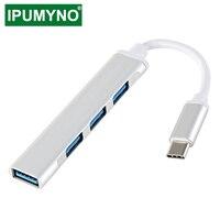 USB-концентратор 3,0/2,0 Type-C 3,1, разветвитель с 4 портами для Lenovo, Xiaomi, Macbook Pro, Air, ПК, аксессуары для ноутбуков