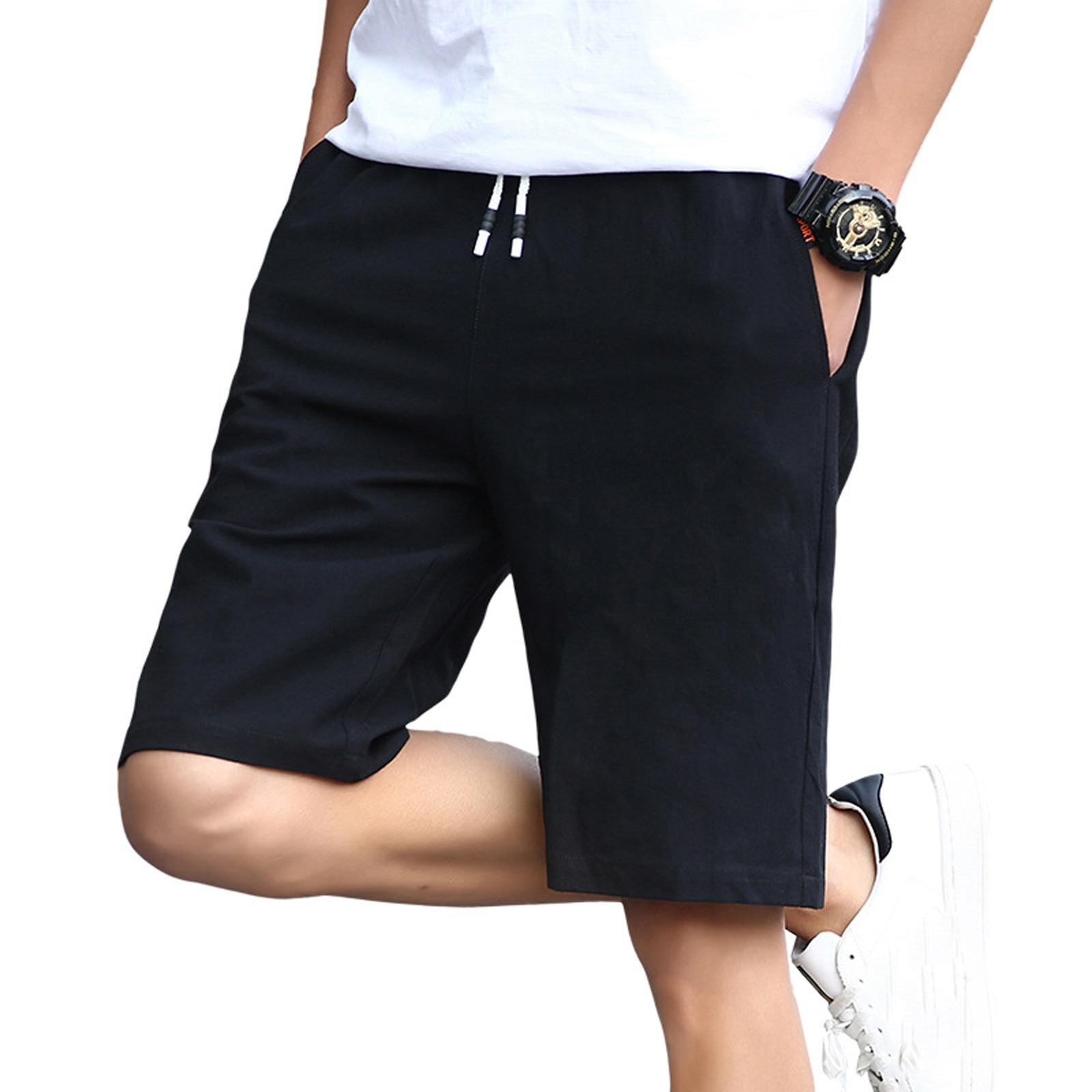 2021 Летние повседневные шорты для мужчин модные хлопковые Стиль мужские шорты-бермуды пляжные шорты размера плюс короткие мужские спортивн...