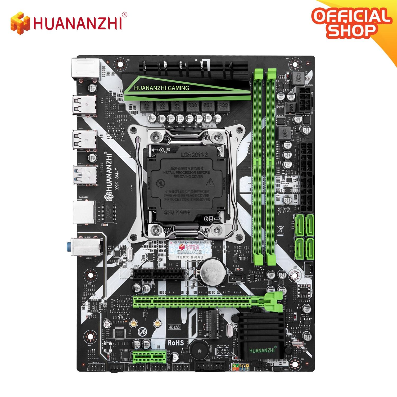 HUANANZHI X99 8M F X99 اللوحة إنتل زيون E5 X99 LGA2011-3 جميع سلسلة DDR4 RECC NON-ECC الذاكرة NVME USB3.0 SATA