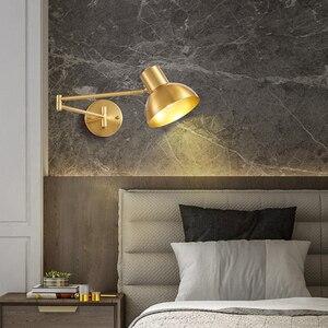 Modern Simplicity E27 LED wall lamp adjustable Lamp arm sconces light indoor home kitchen bedside bedroom livingroom decoration