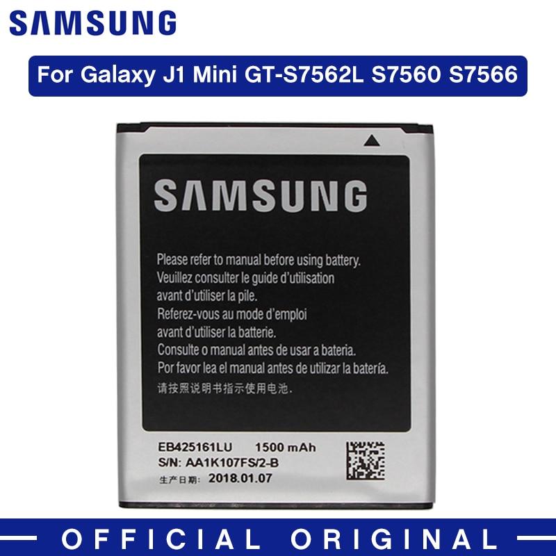 Batería Original Samsung EB425161LU 1500mAh para Samsung J1 Mini GT-S7562L S7560 S7566 S7568 S7572 S7580 i8190 I8160 S7582 J105H