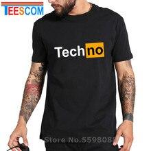 T-Shirt drôle hommes hauts t-shirts Techno T-Shirt Sexy Techno Hub 2 lettre impression coton manches Humor Style T-Shirt Techno logo T-Shirt