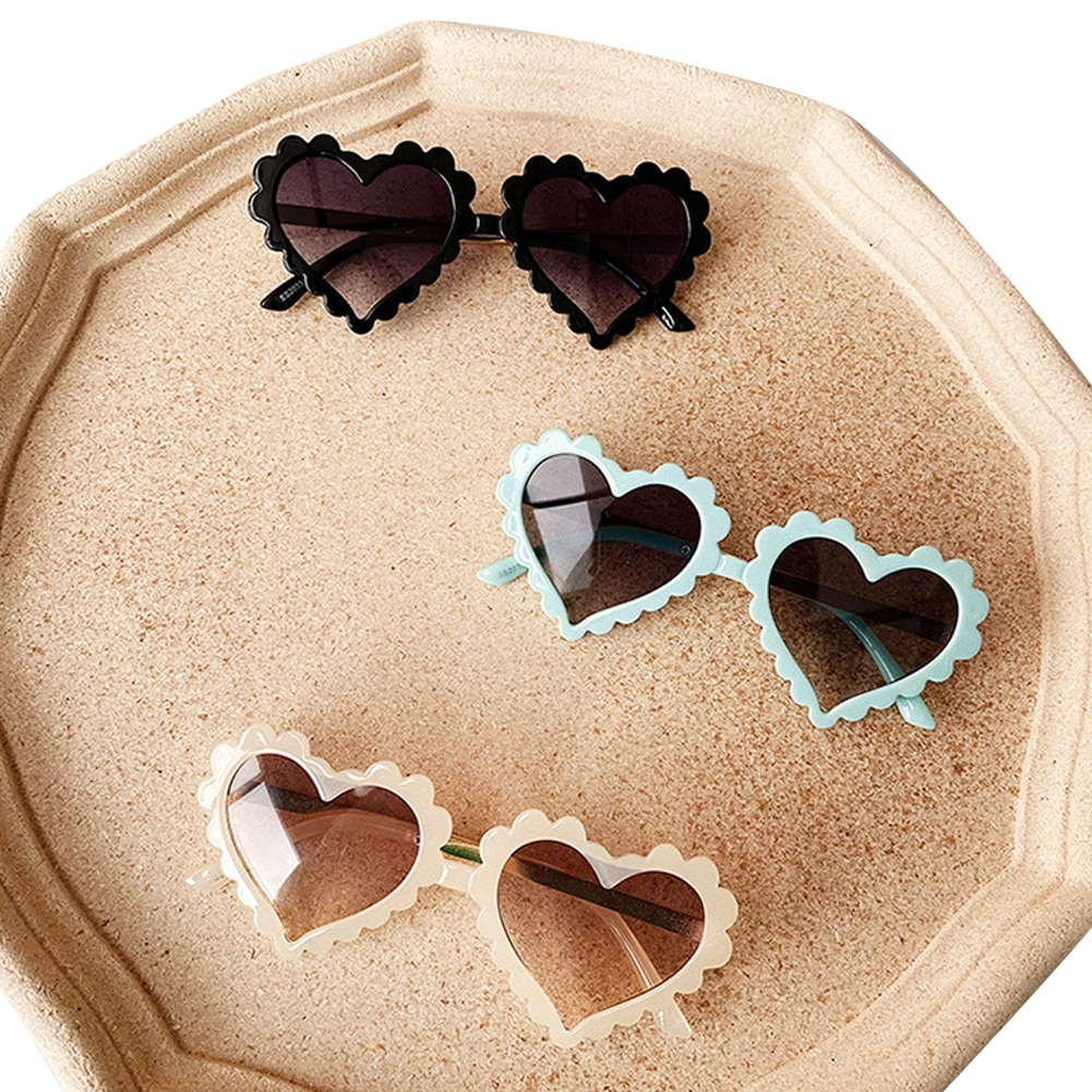 Kids Toddler Baby Heart Shaped Sunglasses Cute Fashion UV Protection Sun Glass For Boys Girls