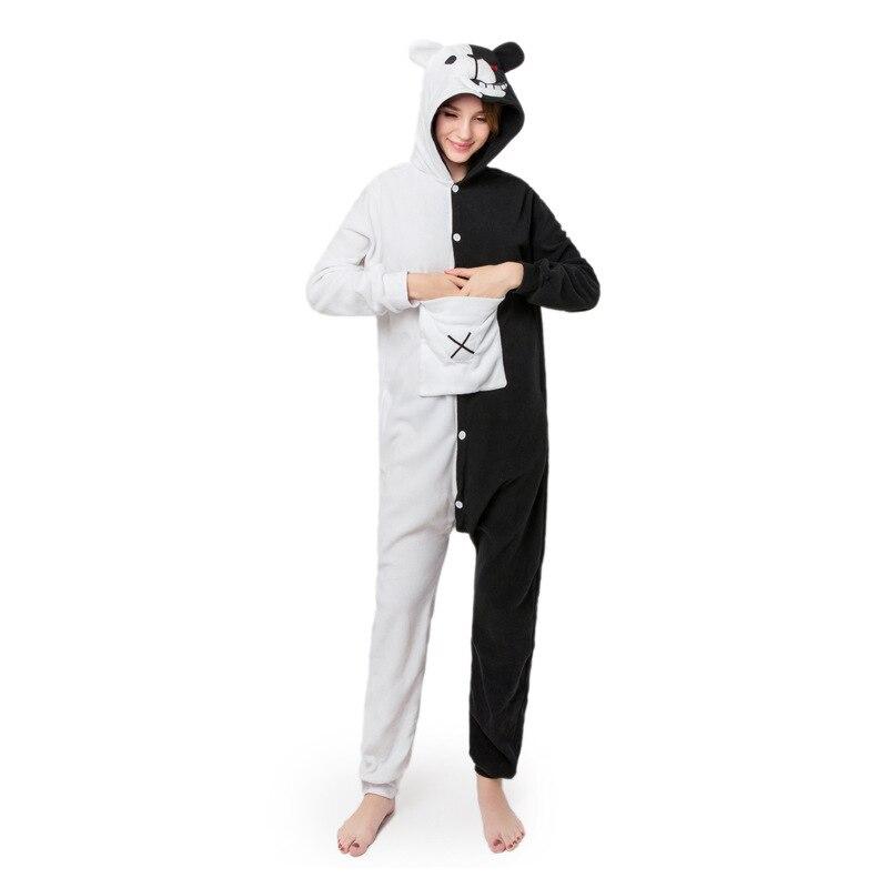 Kigurumi, mono de oso blanco y negro, mono Danganronpa, Monokuma, pijama para mujer, mono de dibujos animados para adultos, traje, ropa de dormir Polar XL