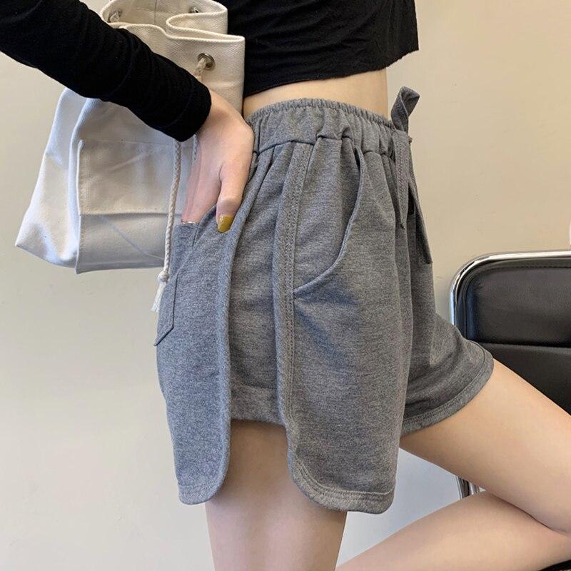 Mazefeng 2020 las nuevas mujeres de moda Casual de deporte Jogging pantalones cortos pantalones Jogger Mujer Pantalones cortos de ancho de la pierna pantalones cortos